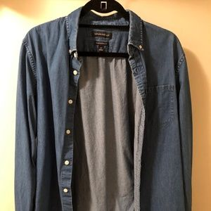 Banana Republic Dark Blue Chambray Shirt